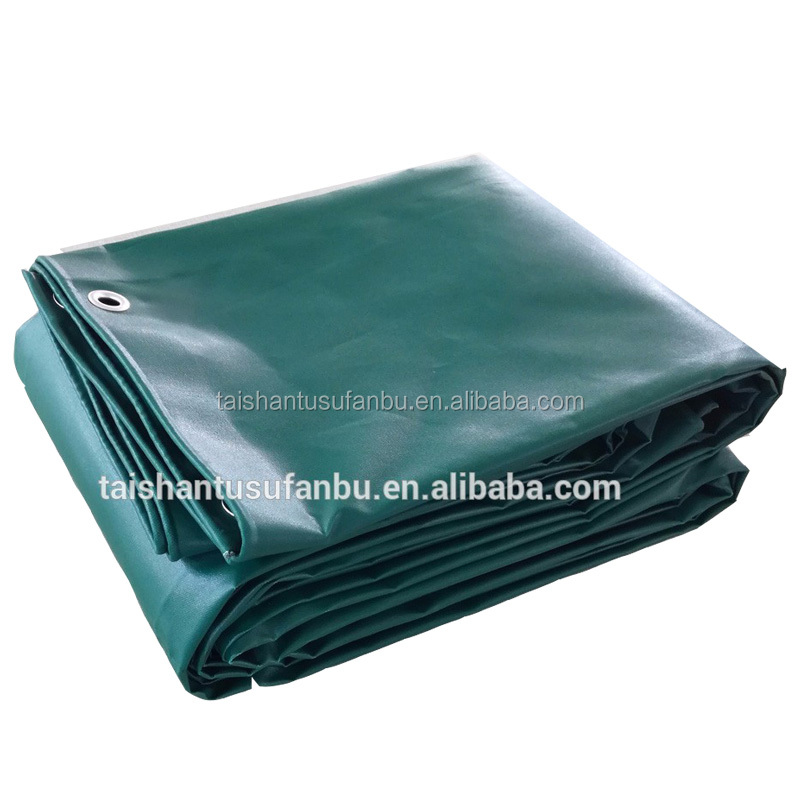 China fabric factory supply PVC Blockout Tent Canvas Turck Cover Curtain Fabric Tarpaulin
