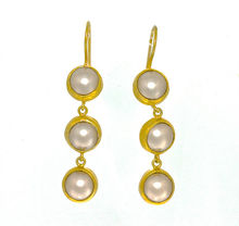 Pink Frosted Pearl Earrings