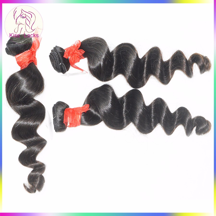 Superior Quality Peruvian Loose Wave Hair Pieces Human Raw Hair Weaving Wholesale Price Free Shipping
