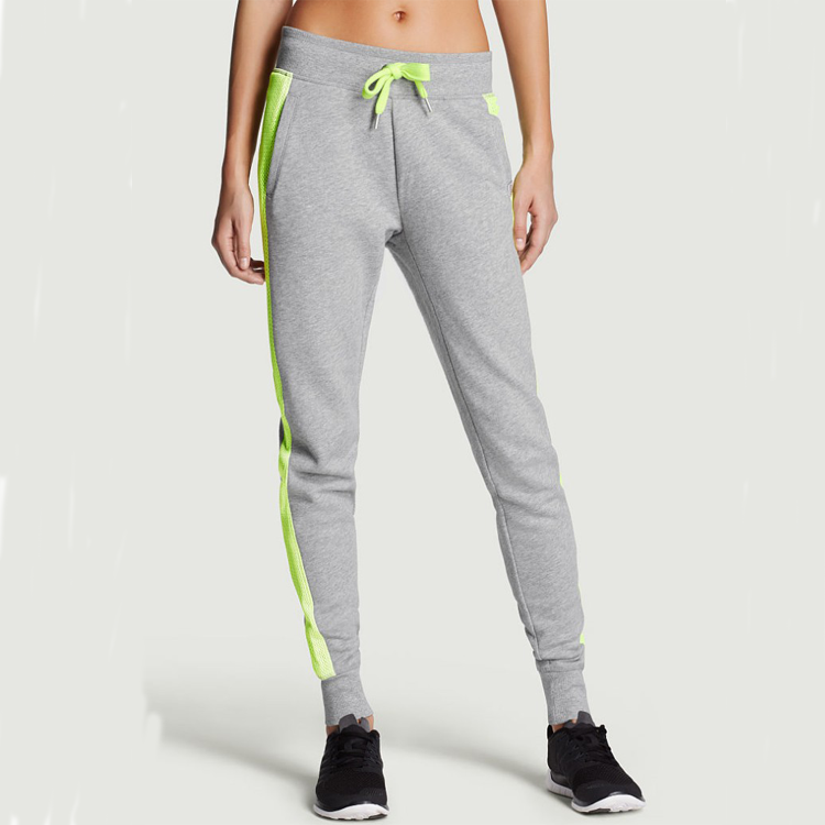 Herbst Aktive Frauen Enge Mesh Gym Jogger Benutzerdefinierte Plain Sweat Pants