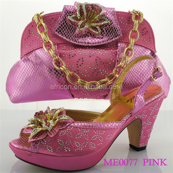 heel pink with beads all African 2015 colorful open heel toe ME0077 spike stone and arrival match high sexy New party pump 07SUd