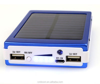 Accept paypal china supplier solar power bank portable power bank 20000mah solar phone charger for mobile phone
