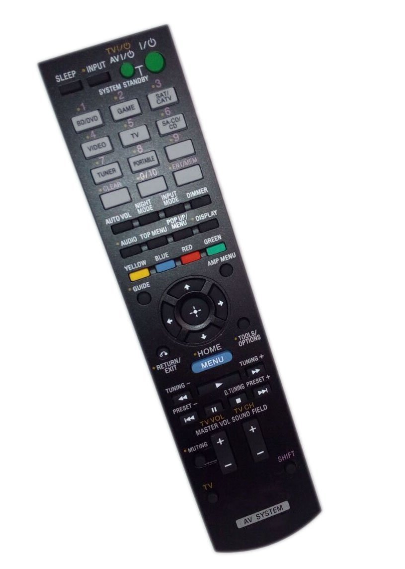 get quotations · replaced remote control compatible for sony str-dh520  rmaau104 148934311 rm-aau105 audio /