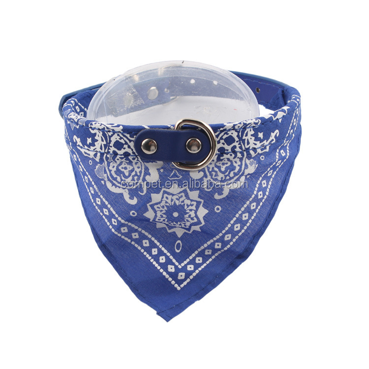 Promotion pet supplies scarves triangular dog cat mouth water towel collar