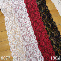 stretch lace manufacture for OEM 18cm textronical lace
