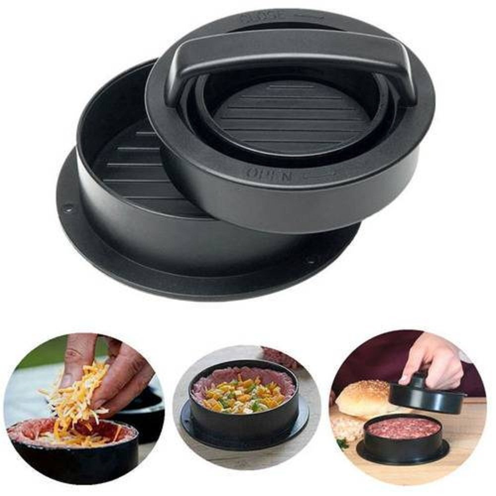 3-in-1 Stuffed Burger Press Hamburger Patty Maker and sliders