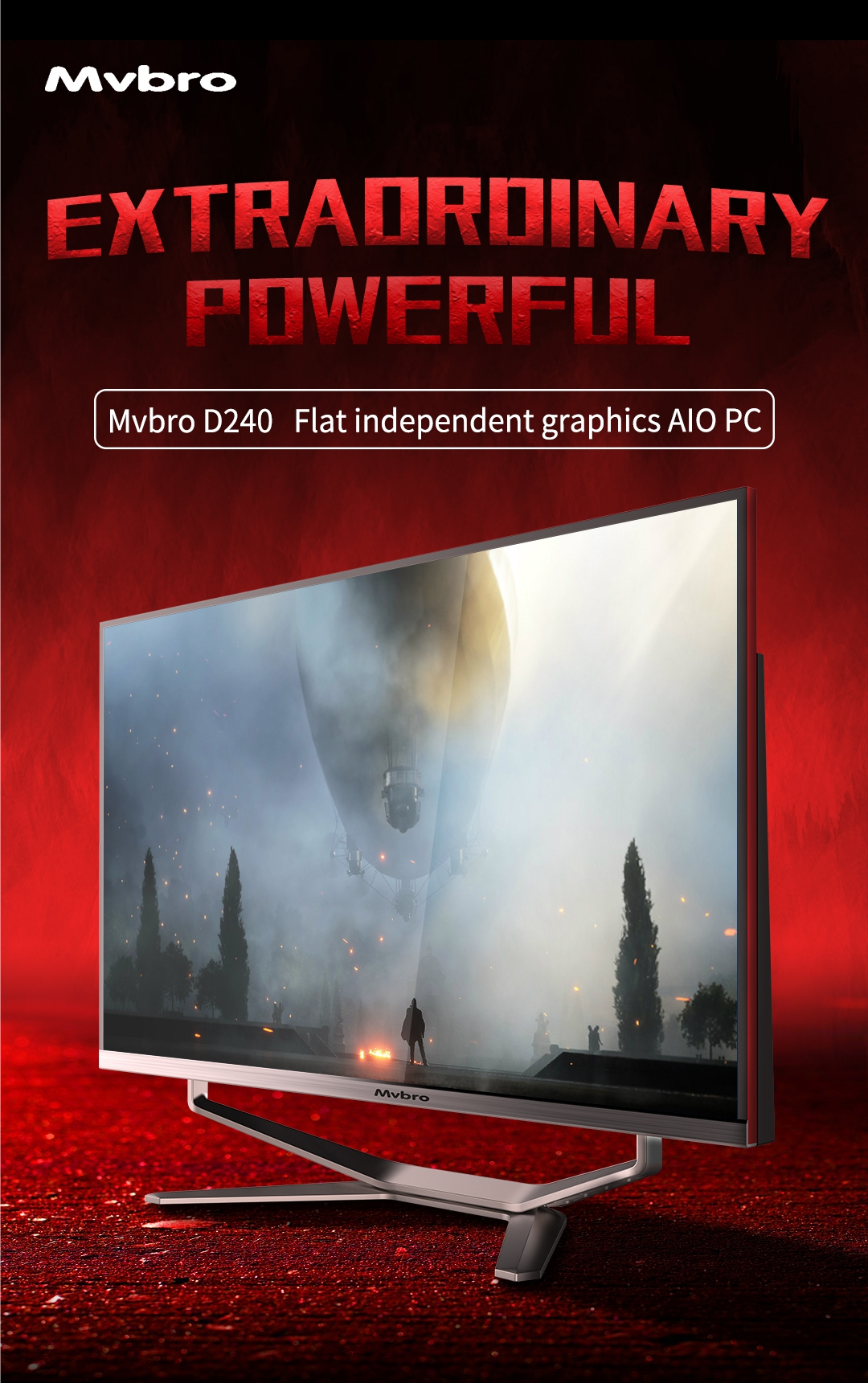 24 inch best gaming pc all in one support Intel Core i3/i5/i7 CPU GTX graphics card aio game computer CE/FCC/Rohs Certified