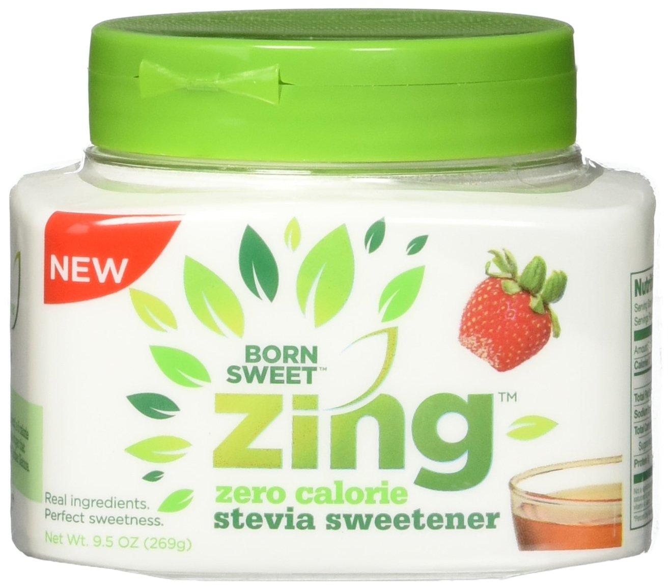 """Born Sweet Zing"" Zero Calorie Stevia Sweetener Easy-Spoon Jar - 1 Jar, 9.5 Oz"