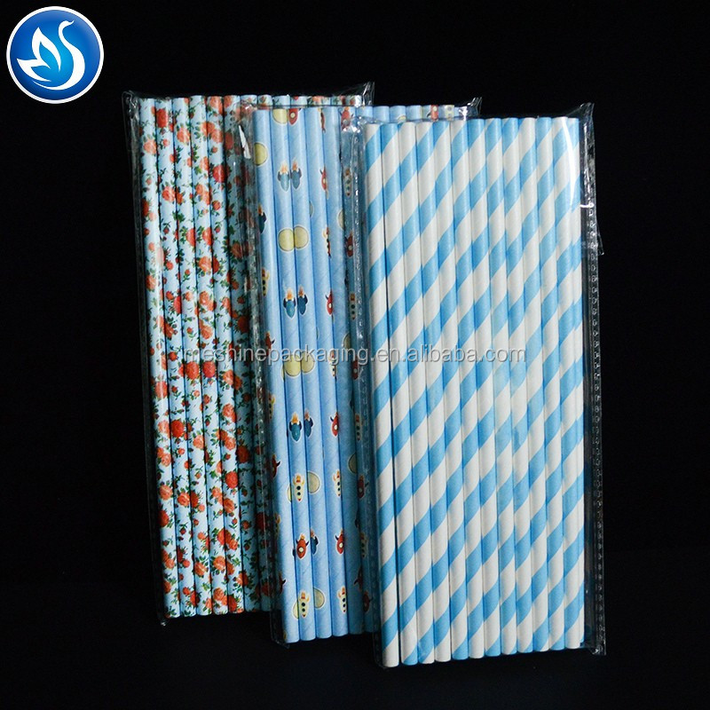 New products beautiful paper drinking straws 100% biodegradable paper drinking