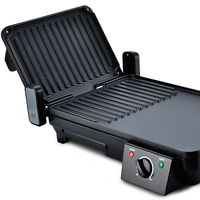 2000w 2-in-1 Home Use Electric Panini Plancha Grill