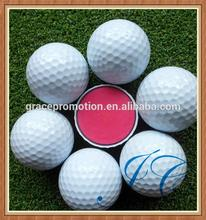 Stock used two piece golf ball/large white golf balls for wholesale
