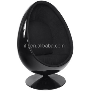 Living room furniture fiberglass eye ball chair,fiberglass oval egg shaped chair