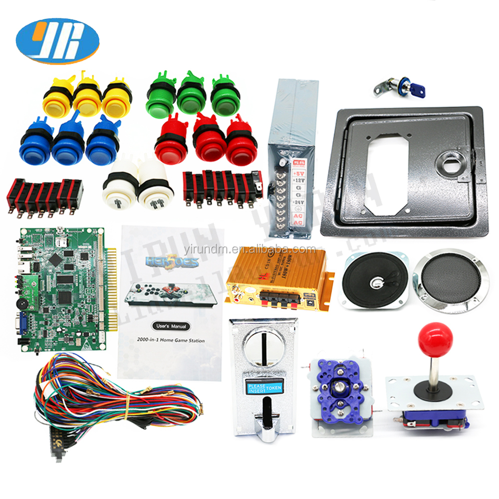 HEROES 2020 In 1 Jamma Arcade Machine DIY Kit 2020 Game Board Met Joystick Muntvangers Knop Versterker diy arcade machine