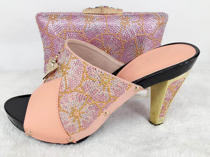 sandals TYS17 matching 23 bag in design Beautiful and pinky shoes Italian bag pink 41wfXq8