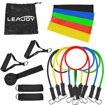 100% Natural Latex 16pcs Excellent Quality Latex Exercise Resistance Bands