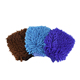 Wholesale custom microfiber chenille car cleaning glove/automobile wash mitt/glove