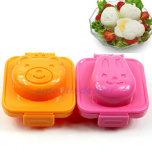 New Hot Cute Rabbit & Bear Riceball Maker Easy Use Sushi Egg Rice Mold Mould Moulds Tools Free Shipping