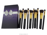 New 10 pcs brush for makeup, human hair makeup brush
