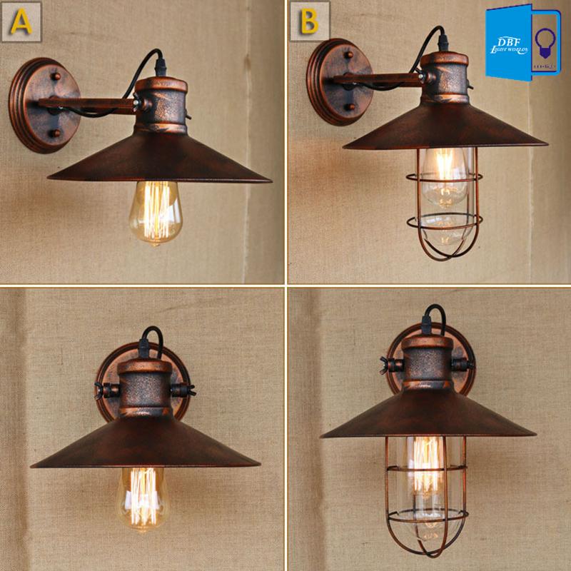 E27 Base Retro Loft <font><b>Industrial</b></font> LED Vintage Wall Lamp light Indoor bedside lamps wall Fixtures <font><b>Home</b></font> <font><b>Decoration</b></font> Lighting 110V/220V