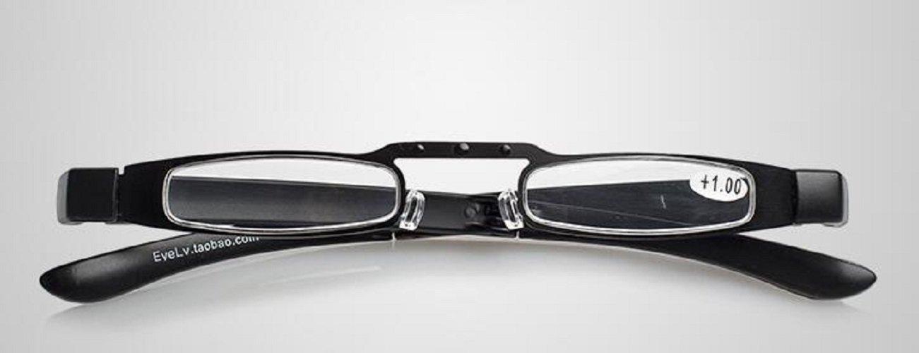 bdd866cf701 Get Quotations · Unisex Mini Slim Full Frame Foldable Folding Reading  Glasses Eyeglasses +1.50 Anti Fatigue Vision Care