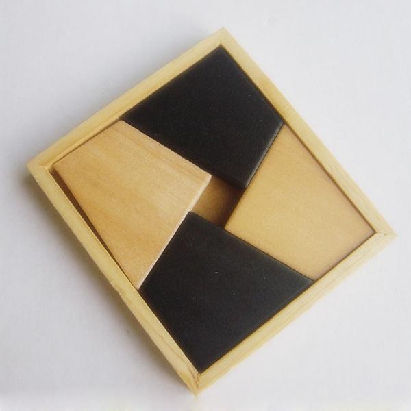 hechos a mano juguetes de madera cuadrada miniatura de madera juguetes para los nios
