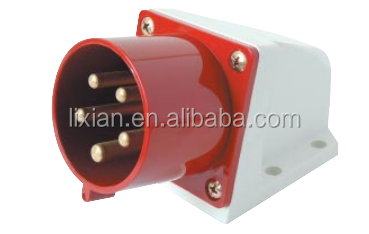 utensil socket 16A/32A Surface Mounting <strong>plug</strong> 380-415V 4pin waterproof IP44 industrial LX-515/525 wall mounted <strong>plug</strong> for Reefer