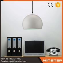 Simple design metal white single pendant lights from China supplier