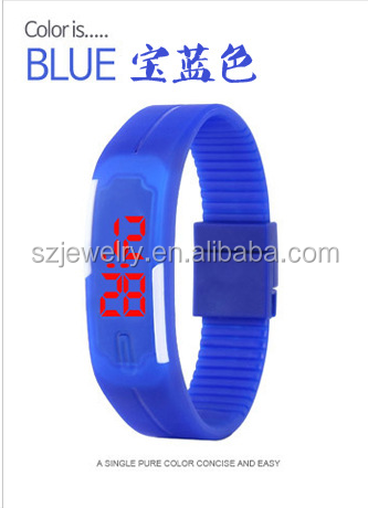 Cheap Silicone Rubber Unisex LED Wrist Watch Bracelet Watch Digital Band