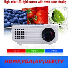 Big Discount 2015 LED Mini Portable HDMI USB Video  LCD tv 1080P 3D hd Home Theater Projector full hd Proyector Beamer Projetor