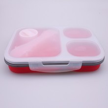 Foldable SGS Food Packing Grade Easylock Silicone Lunch Box