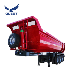 3 axle 4 axles 40-45 cubic meters end dump trailer tipper semi truck trailer for sale