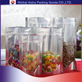 Ziploc Stand Up One Side Transparent One side Silver Plastic Food Packaging Bag