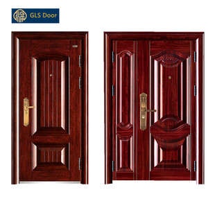 steel security door one and half door china steel door with best price