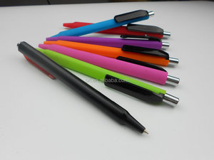 logo pens with big clip printing ,pens in soft rubber finnised ,triangle cheap metal pen