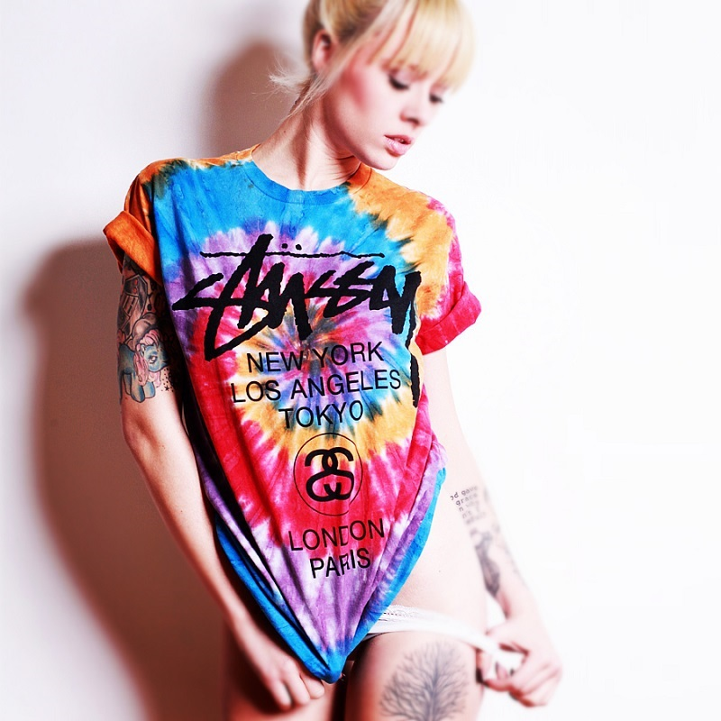 f9adf3d9 Buy womens plus size graphic tee tops tie dye t shirt for women ladies  boyfriend couple harajuku punk style tshirt tie-dye t-shirt in Cheap Price  on ...