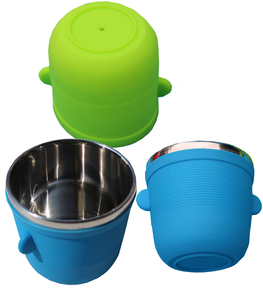 bbq grill tabletop serving set mini bar and party ramekin ,silicone sleeve base,round nested Baking Ramekin Set