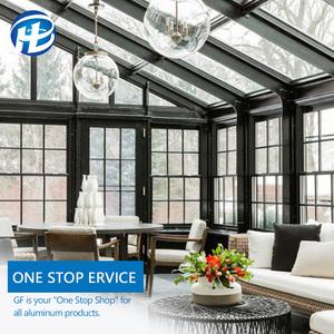 China Alibaba outdoor balcony aluminium frame glass sunroom winter garden glass sun room Prefabricated Glass House