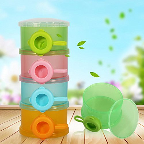 Baby 4Layers Food Containers Portable Container - YiGooood Infant Milk Powder Storage Formula Containers Dispenser Case Baby Care Food Supplements