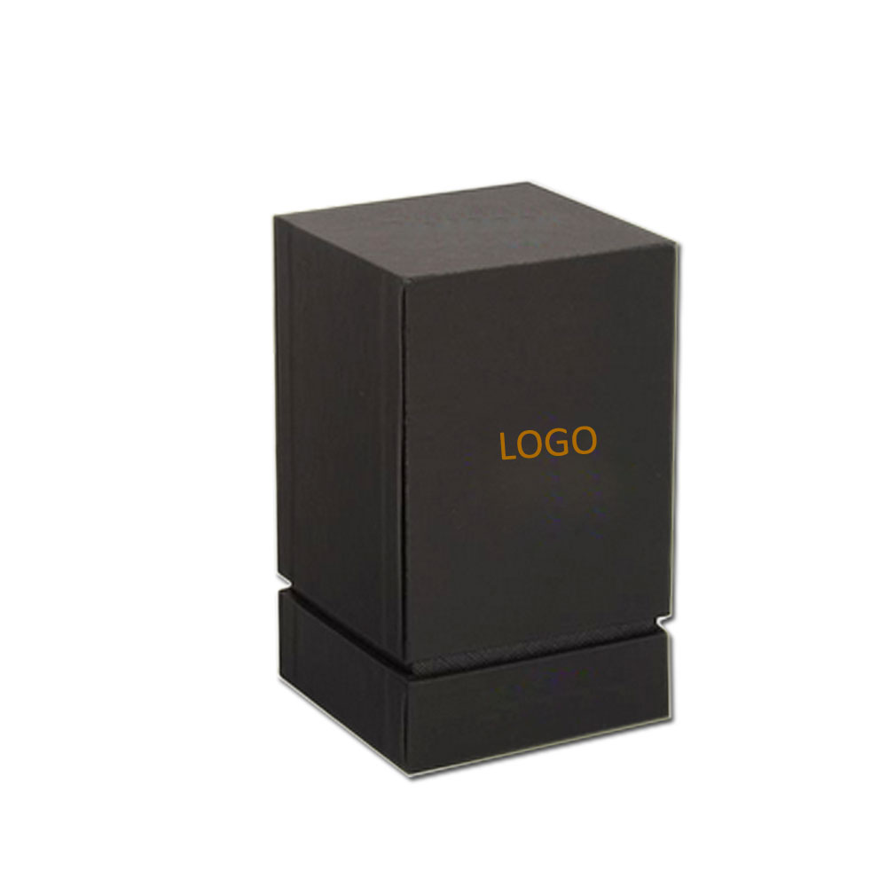 Luxury Square Candle Box Custom Matte Black Lid And Bottom Cardboard Gift Box For Candle Packaging