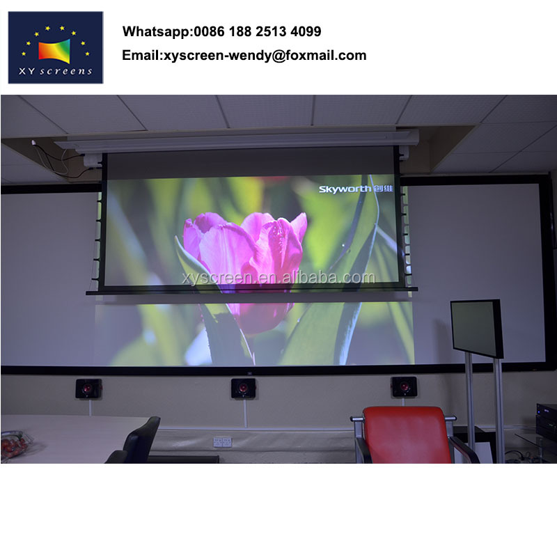 Film for projector screen with perforated fabric, laptop screen privacy film