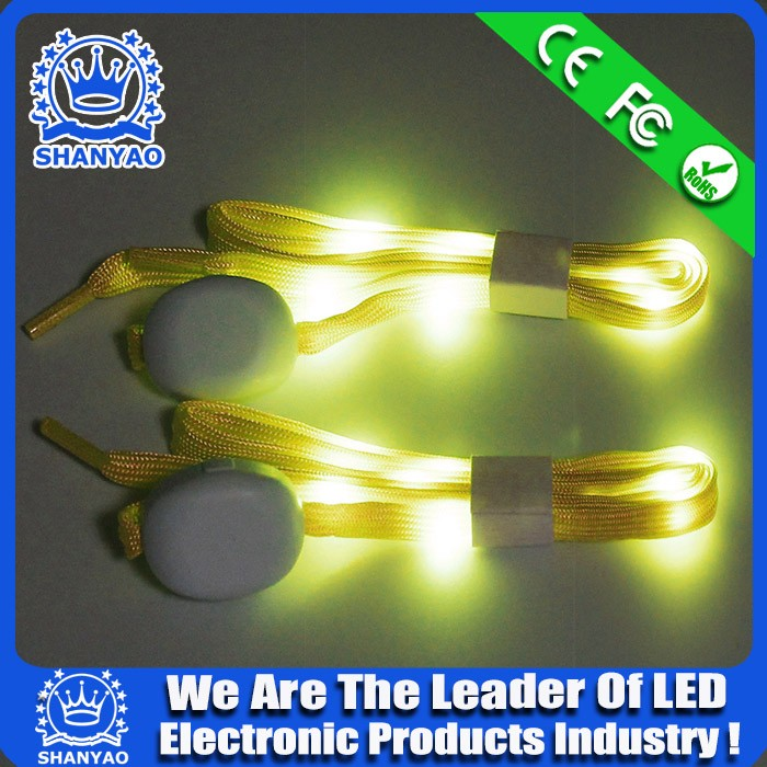 2016 Hot Selling Light Up LED Boot Shoelace For Sports Safety Usage