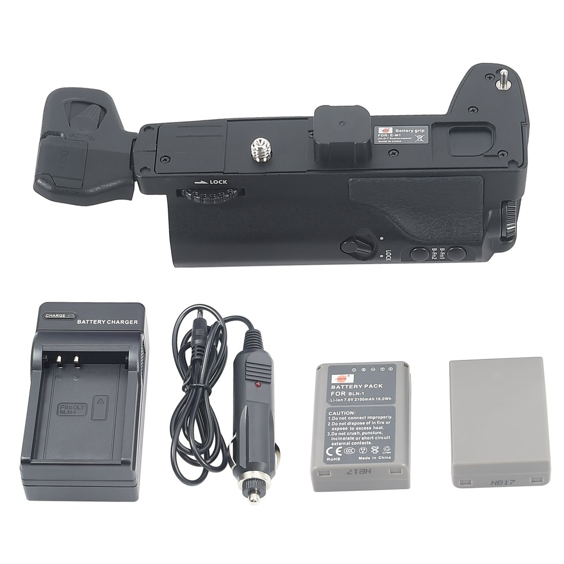 DSTE® Pro HLD-7 Vertical Battery Grip + 2x BLN-1 + DC133 Travel Charger Adapter for Olympus E-M1 SLR Digital Camera