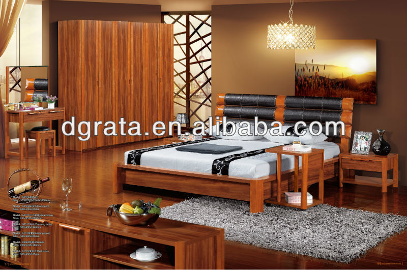 2012 new design MDF bedroom furniture suits that is uesd solid wood and MDF board to finished for the family furniture