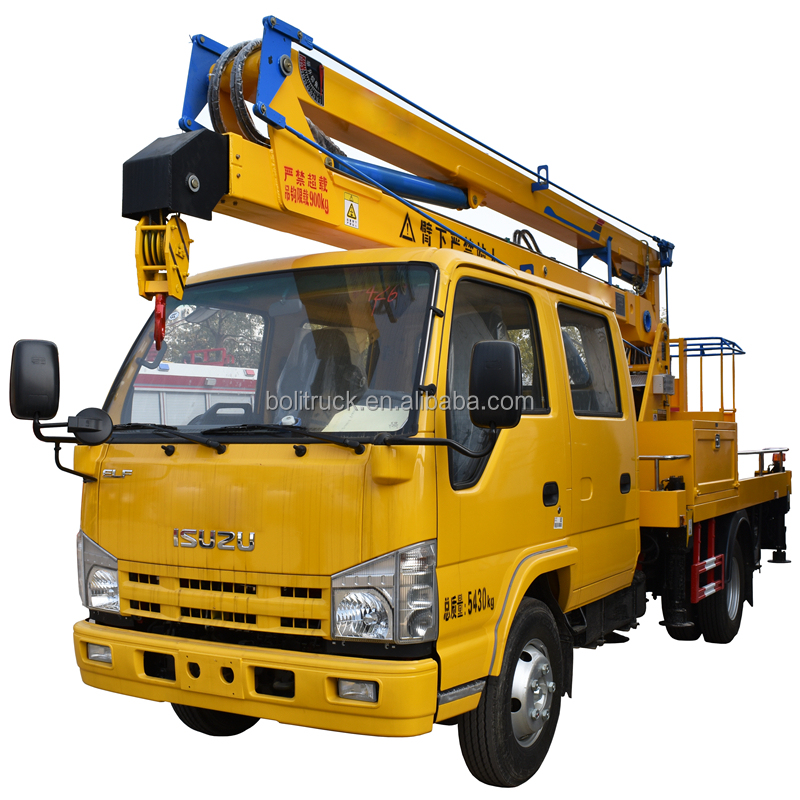 Hot sale 4X2 Japan 14 meters high lifting altitude aerial platform operation bucket truck