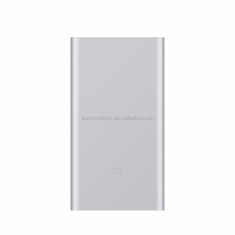 New 2016 100 Original Xiaomi Mi Power Bank 210000mah Quick Charge 2 10000mah Slim Fast Portable Charger