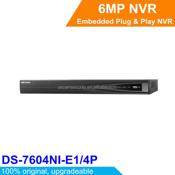 Hikvision 4ch POE NVR Incorporado Plug & Play NVR Network Video Recorder DS-7604NI-E1/4 P