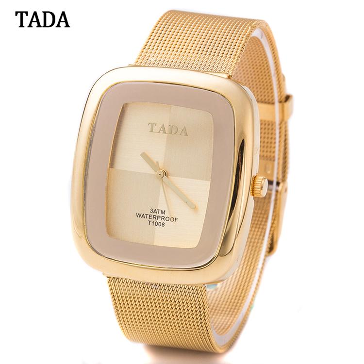 Top luxury Brand TADA Brand T1008 Women's Gold Watches Steel Mesh Strap Japan Quartz Movement 3ATM Waterproof Watches фото