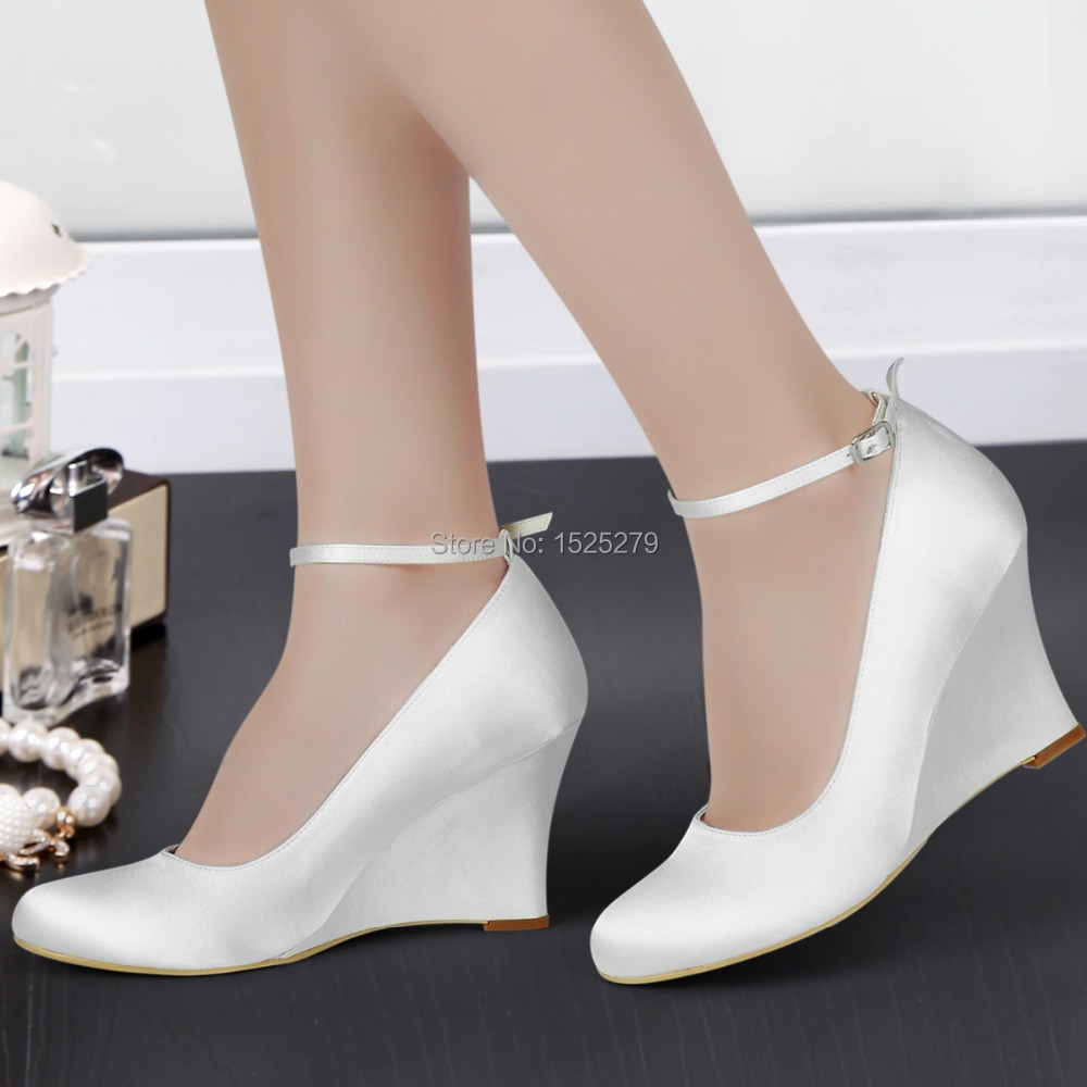 a7443997d2 Bridal Shoes Pictures: closed toe 3 inch bridal shoes