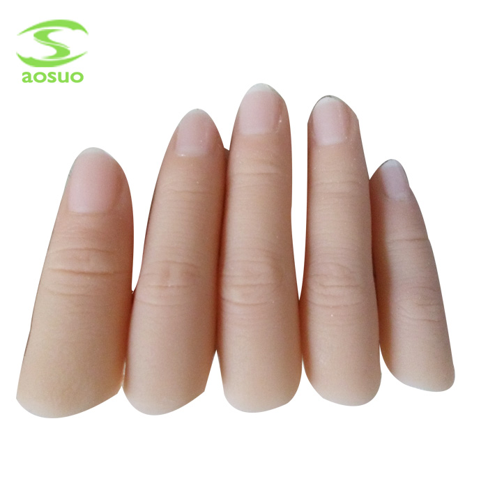 Custom silicone prosthetic finger , finger cosmetic prosthesis for amputee