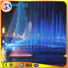 High Jet Floating Music Fountain Decoration Solution